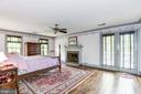 Master bedroom has fireplace and walkout to deck - 6412 NOBLE ROCK CT, CLIFTON