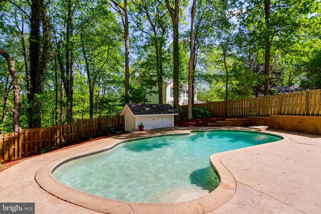 In-ground Pool and Storage Shed - 4378 SPILLWAY LN, DUMFRIES