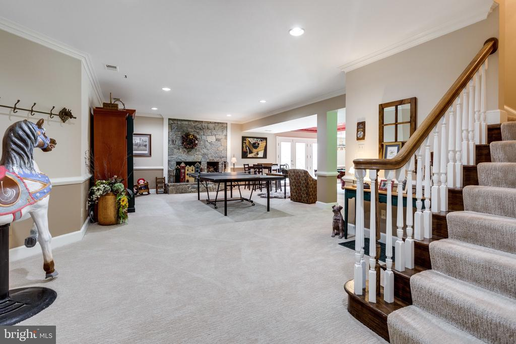 Spacious Lower Level ...Great for Entertaining - 10114 LAWYERS RD, VIENNA