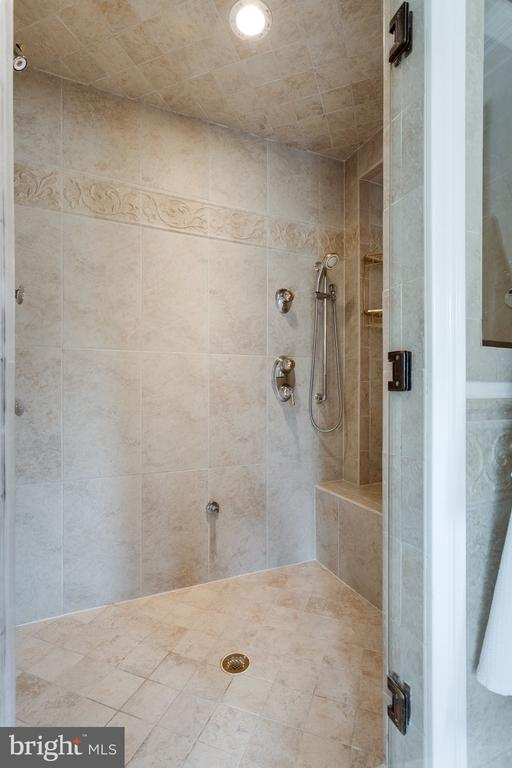 Master Bath with Steam Shower & Body Jets. - 10114 LAWYERS RD, VIENNA