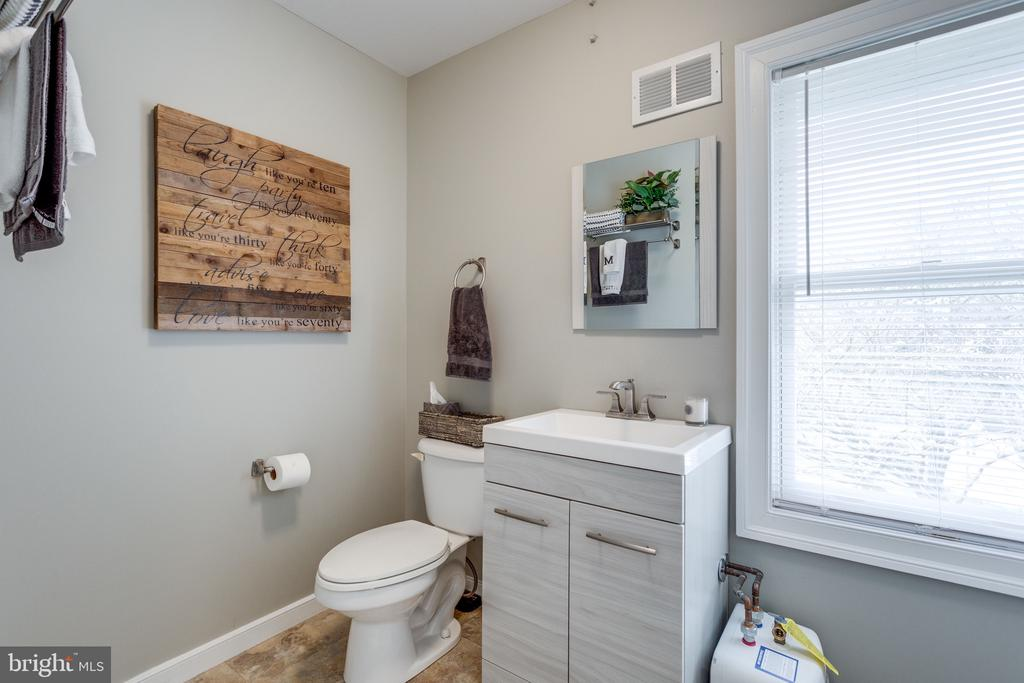 Powder Room in Office Suite of Barn. - 10114 LAWYERS RD, VIENNA