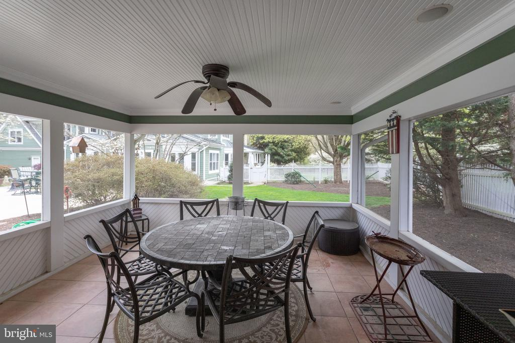 Screened Porch at Pool House. - 10114 LAWYERS RD, VIENNA