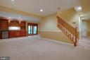 Lower den has a built in wet bar w refrigerator - 7704 LAKELOFT CT, FAIRFAX STATION