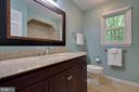 Hall bath is great with new vanity & shower/tub - 7704 LAKELOFT CT, FAIRFAX STATION