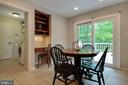 Kitchen has an eat in area and desk space too - 7704 LAKELOFT CT, FAIRFAX STATION