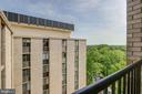 View from balcony - 4242 EAST WEST HWY #1120, CHEVY CHASE