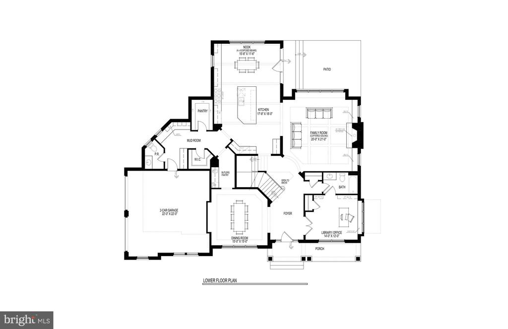 Main Floor Plan - 717 MILLER AVE, GREAT FALLS