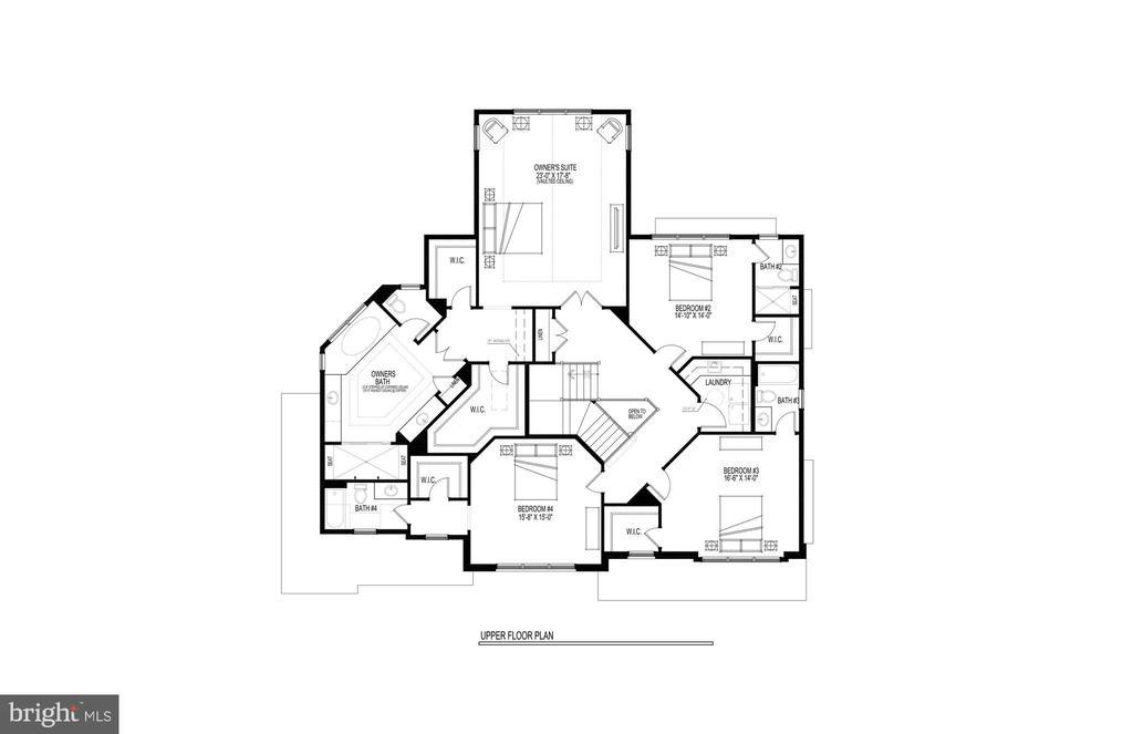Upper Level Floor Plan - 717 MILLER AVE, GREAT FALLS