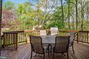 Enjoy the scenic atmosphere on this deck. - 1634 MONTMORENCY DR, VIENNA