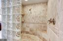 Imported tile and glass, two person shower. - 1634 MONTMORENCY DR, VIENNA