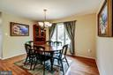 Separate area for family dining. - 1634 MONTMORENCY DR, VIENNA