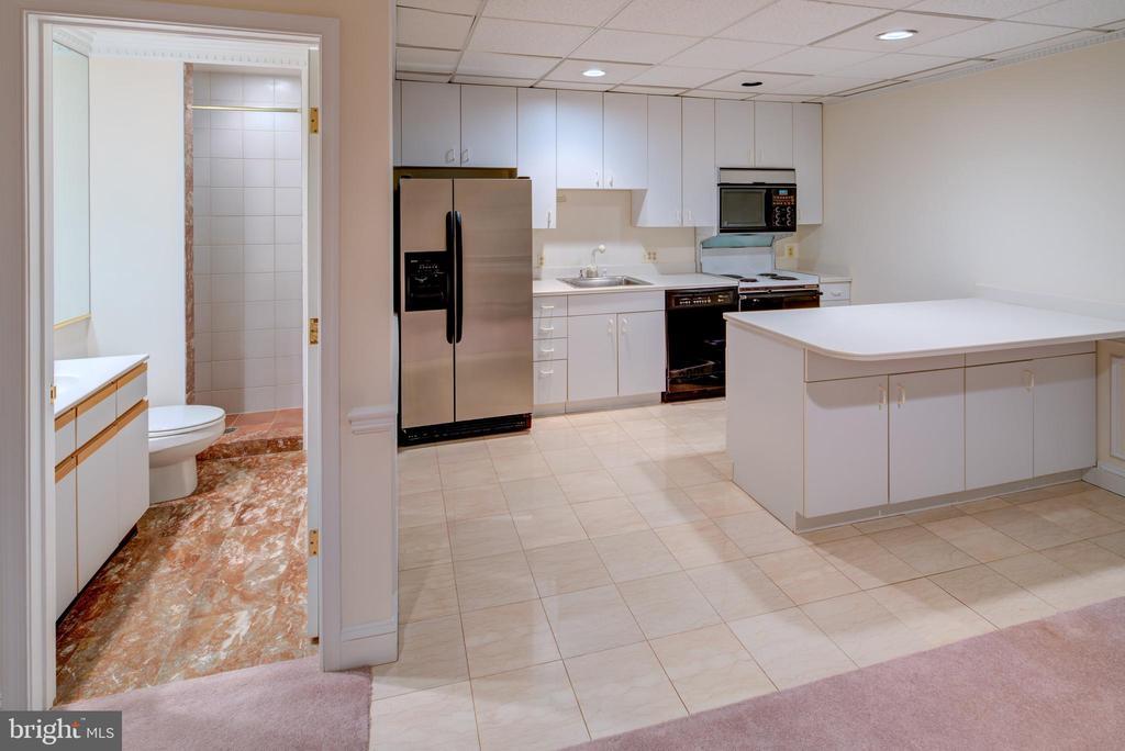 Basement Kitchen;Bath - 9531 RIVER RD, POTOMAC