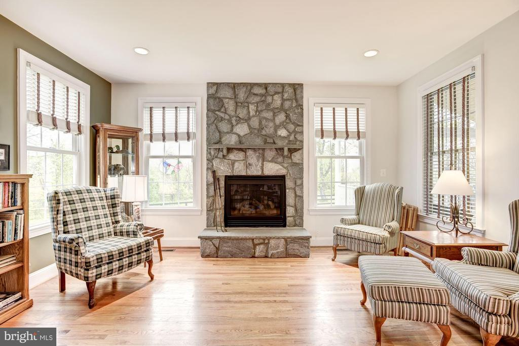 Family Room with Gas Fireplace - 35054 MCKNIGHT CT, ROUND HILL