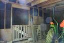 Inside back half of barn is 4 stalls - 807 LEELAND RD, FREDERICKSBURG