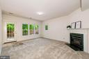 Basement  Rec Room  with 2nd  gas fireplace - 2200 JOURNET DR, DUNN LORING
