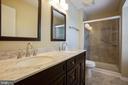 Newly remodeled master bath - 8145 MORNING BREEZE DR, ELKRIDGE