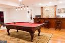 Phenomenal billiard area and full wet bar - 17160 SPRING CREEK LN, LEESBURG