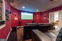 Full enclosed Media Center - enjoy sports, movies - 17160 SPRING CREEK LN, LEESBURG