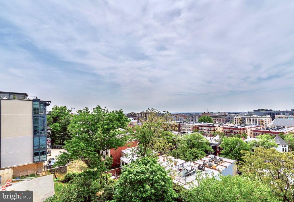 Living Room Balcony View - 1468 BELMONT ST NW #4E, WASHINGTON