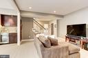 Rec room with wet bar - 405 N HIGHLAND ST, ARLINGTON