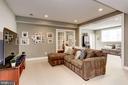 Light-filled lower level rec space - 405 N HIGHLAND ST, ARLINGTON