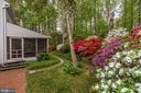 Patio Springtime View - 8623 APPLETON CT, ANNANDALE