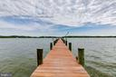 End of Dock provides 11' Mean Water Depth - 833 LONDONTOWN RD, EDGEWATER