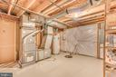 Additional Unfinished Room in Basement for Storage - 5723 WOODBINE CT, FREDERICKSBURG