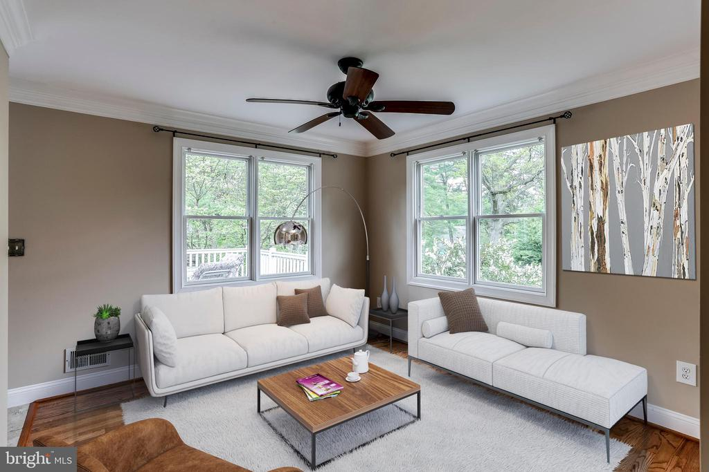 Living Room - Virtually Staged - 6106 SEBRING DR, COLUMBIA
