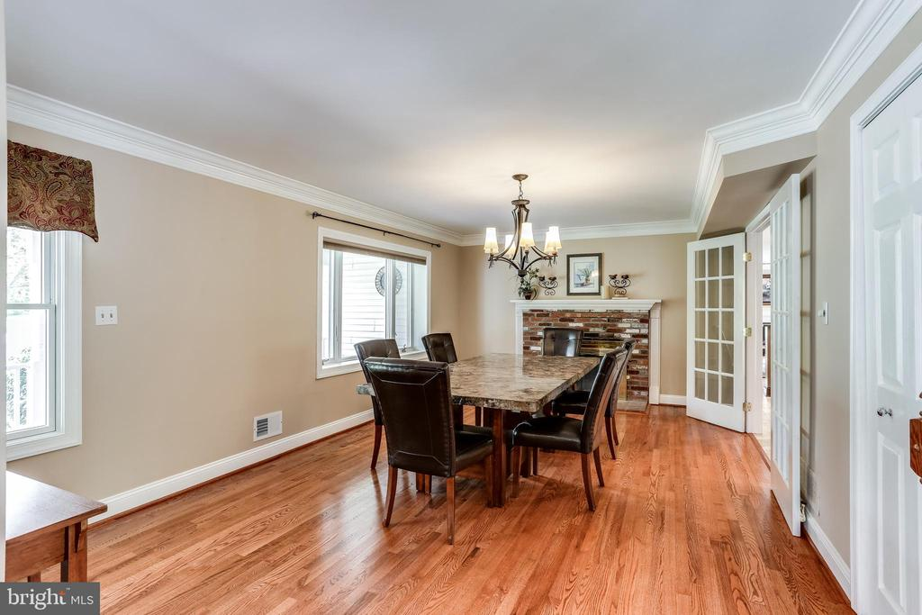 Separate Dining Room with Fireplace - 6106 SEBRING DR, COLUMBIA