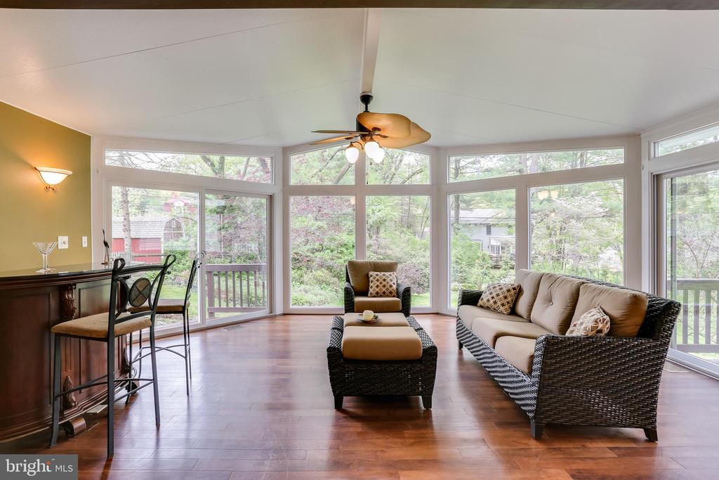 Sunroom Addition with Floor to Ceiling Windows - 6106 SEBRING DR, COLUMBIA