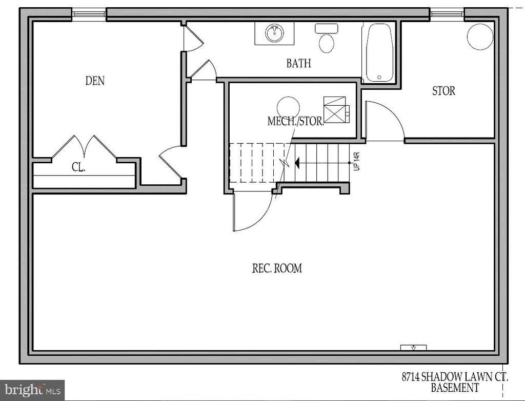 Floor Plan - Basement - 8741 SHADOW LAWN CT, ANNANDALE