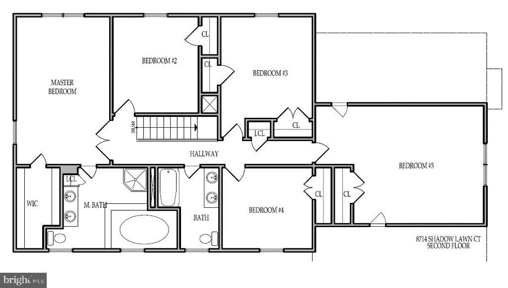 Floor Plan  - Second Floor - 8741 SHADOW LAWN CT, ANNANDALE