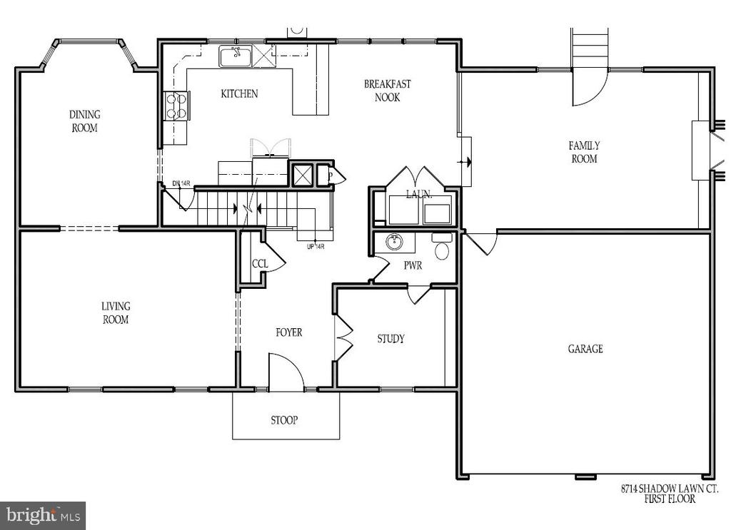 Floor Plans - First Floor - 8741 SHADOW LAWN CT, ANNANDALE