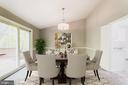 Dining Room with vaulted ceiling & new SGD to deck - 9364 TOVITO DR, FAIRFAX