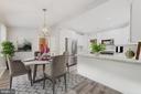 Kitchen w  engineered wood floors. - 9364 TOVITO DR, FAIRFAX