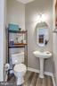 Half Bath w/New Floor  off Living Room - 2582 LOGAN WOOD DR, HERNDON