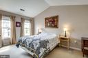 Master Bedroom #1  with Cathedral Ceiling - 2582 LOGAN WOOD DR, HERNDON