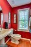 Main level half bath - 25647 S VILLAGE DR, CHANTILLY
