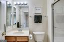 Full third bath on upper level - 25647 S VILLAGE DR, CHANTILLY