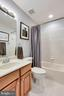 Full second bath on upper level - 25647 S VILLAGE DR, CHANTILLY