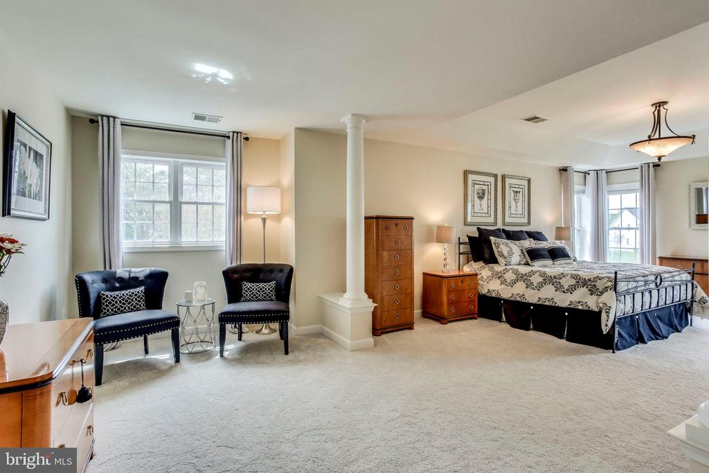 Luxurious master suite~ w/ sitting area - 25647 S VILLAGE DR, CHANTILLY