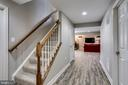 finished lower level with rear walkout - 25647 S VILLAGE DR, CHANTILLY