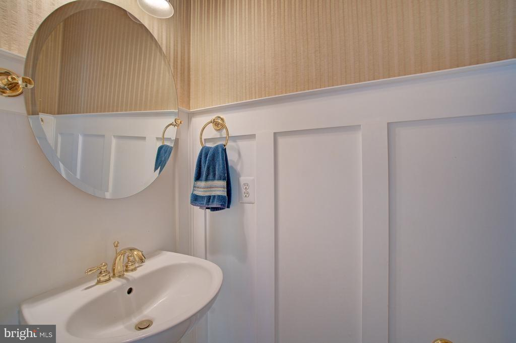 Cute 1/2 Bath with Wainscoting - 42834 MEANDER CROSSING CT, BROADLANDS