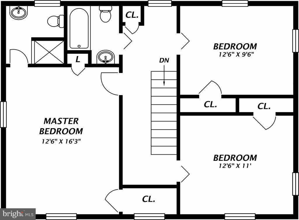 Upper Level Floor Plan - 1800 HUNTING COVE PL, ALEXANDRIA