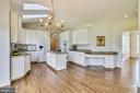 Gourmet kitchen with vaulted ceilings - 42324 BIG SPRINGS CT, LEESBURG