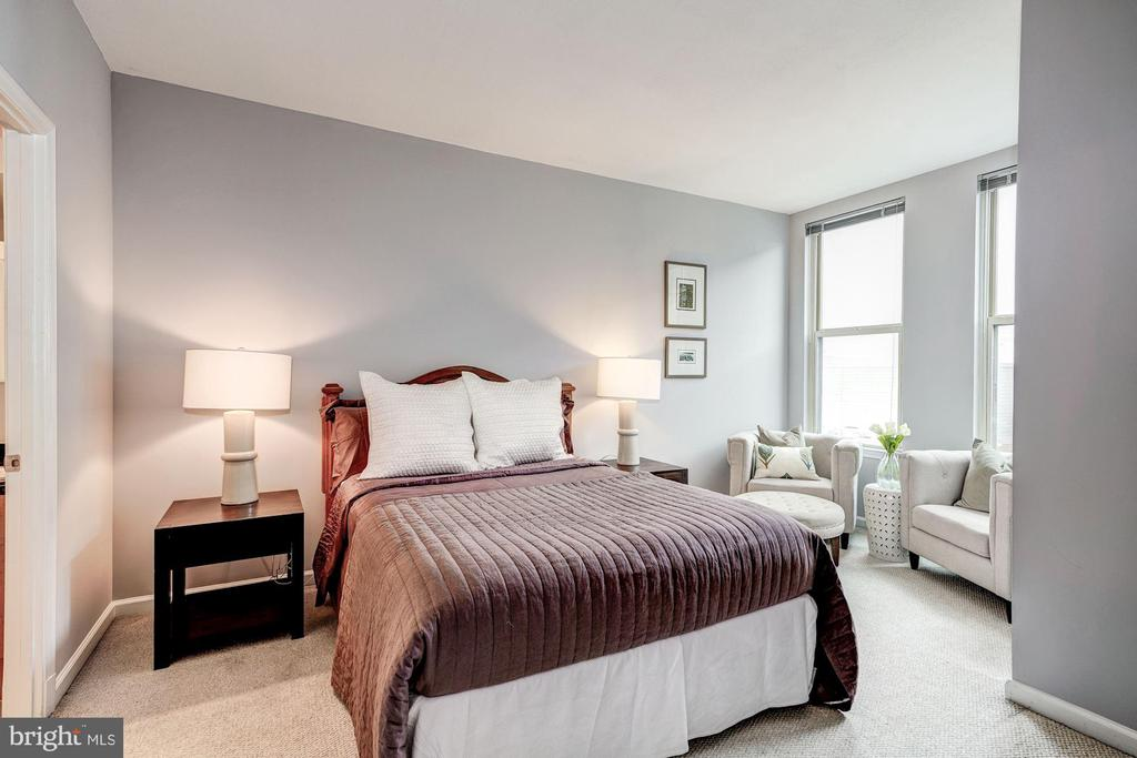 Sunny, spacious master bedroom - 715 6TH ST NW #1003, WASHINGTON