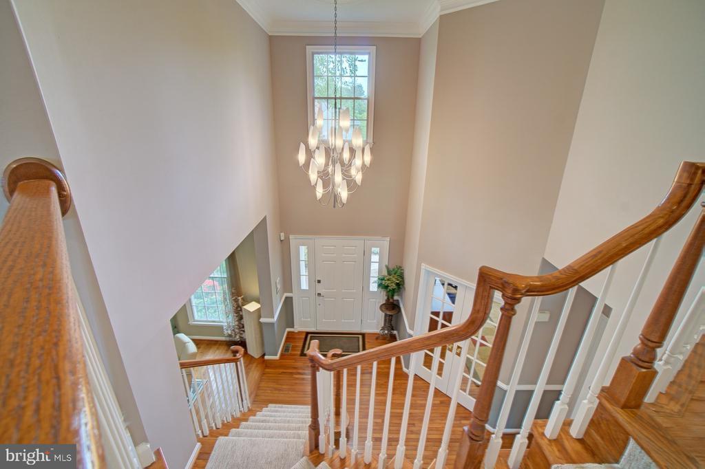 Foyer light fixture is gorgeous. - 10753 BLAZE DR, RESTON