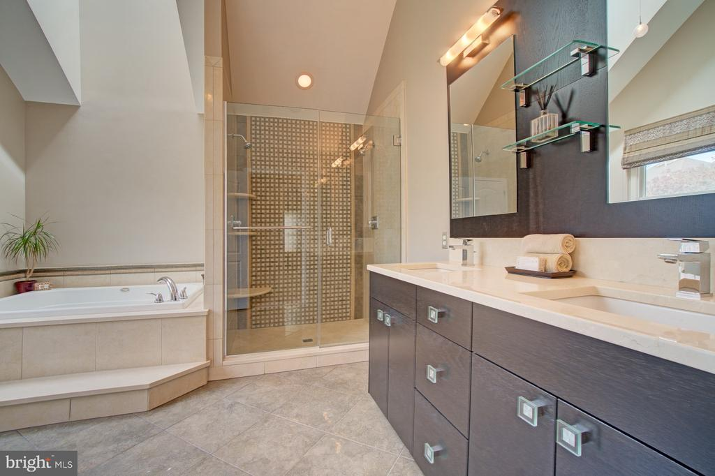Master Bath. ~Versace~Tile, floor and ~shower wall - 10753 BLAZE DR, RESTON
