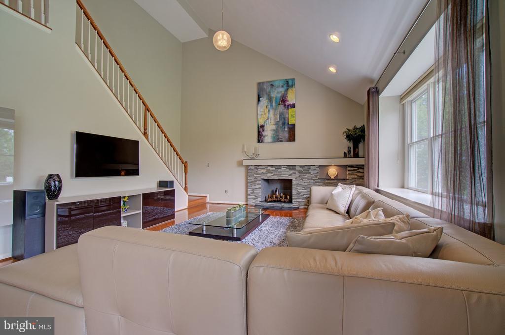 New hardwoods installed in Family Room in 2011 - 10753 BLAZE DR, RESTON